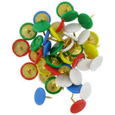 Vinyl Coated Thumb Tacks, Multi-colored, 3/8 x 3/8 inch, 100 Count