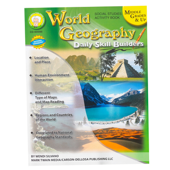 Carson-Dellosa, World Geography Daily Skill Builders Activity Book, Reproducible, Grades 6-12