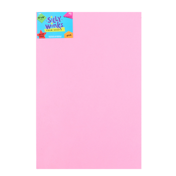 Silly Winks, Thick Foam Sheet, 12 x 18 inches, Light Pink