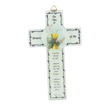 Autom, Bread of Life Communion Wall Cross, Glass, 6 1/2 inches
