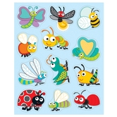 Carson-Dellosa, Buggy for Bugs Shape Stickers, 1 x 1 Inch, Multi-Colored, Pack of 72