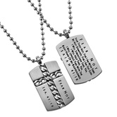 Spirit & Truth, Isaiah 41:10 Fear Not Chain Cross Necklace, Stainless Steel, 24 inches