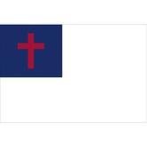Swanson, Christian Flag, White, Red, & Blue, 3 x 5 Feet