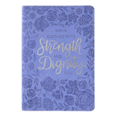 SoulScripts, Proverbs 31:25 Strength & Dignity, Flexcover Journal, Lavender, 6 x 8 1/2 inches