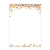 Glimmer of Gold Collection, Letterhead, 8.5 x 11 Inches, 50 Sheets