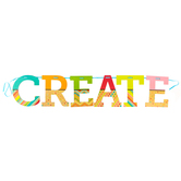 TooCute Collection, Create Word Banner, Multi-Colored, 12 Inch Letters, 7 Pieces