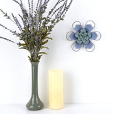 Wavy Wall Flower, Metal, Blue, 7 x 6 1/4 inches