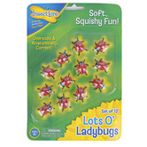 Insect Lore, Lots O' Ladybugs, Red and Black, Ages 4 Years and Older, 12 Pieces