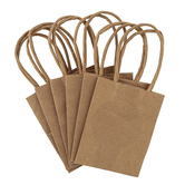 the Paper Studio, Sacks-N-Things, Craft Mini Bags, Kraft, 2 x 3 x 4 inches, Set of 6 Bags