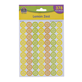 Teacher Created Resources, Lemon Zest Mini Stickers, Multi-Colored, 378 Stickers