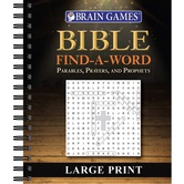 Brain Games Bible Find a Word Large Print, by Publications International Ltd., Spiral Bound