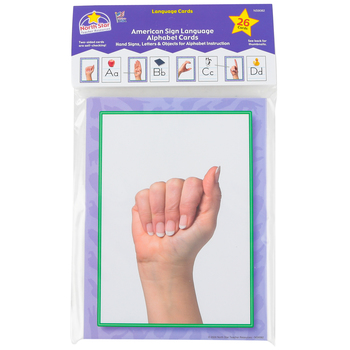 North Star Teacher Resources, American Sign Language Alphabet Cards, 6 x 8 Inches, 26 Pieces, PreK-12