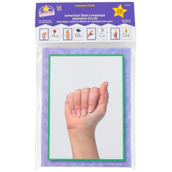 North Star Teacher Resources, American Sign Language Alphabet Cards, 6 x 8 Inches, 26 Pieces, PreK-12
