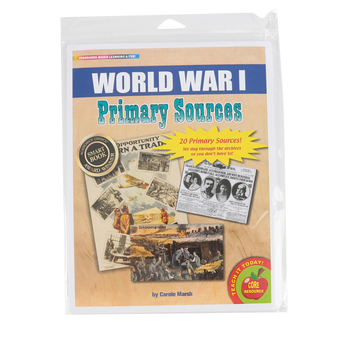 Gallopade, World War 1 Primary Sources Series, Grades 1-6, 8.5 x 11 Inches, 20 Pieces
