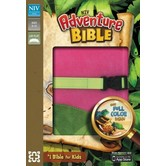 NIV Adventure Bible with Clip, Duo-Tone, Pink and Green