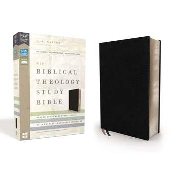 NIV Biblical Theology Study Bible, Bonded Leather, Black