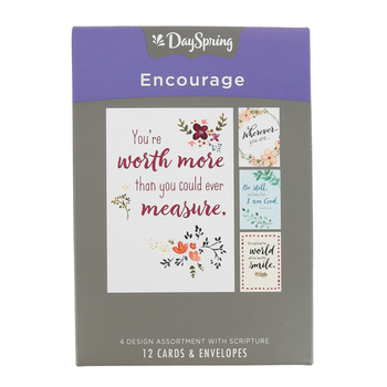 DaySpring, Words that Encourage Boxed Encouragement Cards, 12 Cards with Envelopes