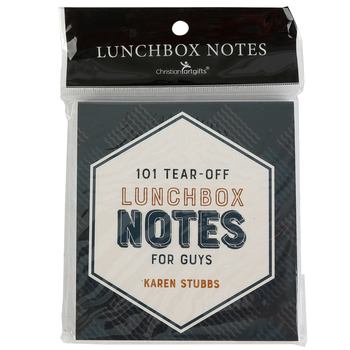 Christian Art Gifts, Lunchbox Notes for Guys, Blue, 4 x 5 Inches