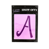 Show-Offs, Upper Case Sophie Alphabet Stencils, 4 inch characters