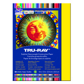 Tru-Ray Sulphite Construction Paper, 9 x 12 inches, Yellow, 50 Sheets
