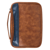 Holman, Salmos 56:4 En Dios Alabare Spanish Bible Cover, Blue & Tan, Multiple Sizes Available