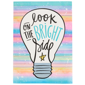 Renewing Minds, Look on the Bright Side Motivational Poster, 13 x 19 Inches