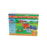 Melissa & Doug, Farm Animal Train Set, Wood, 13 Pieces, Ages 3 to 6 Years Old