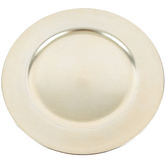 Champagne Plate Charger, Plastic, 13 inches