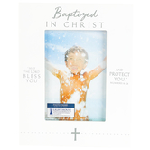 Lighthouse Christian, Baptized in Christ Photo Frame, Resin, White, 4 x 6 Inches