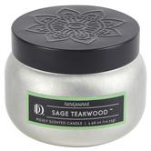Darsee & David's, Sage Teakwood Candle Tin, Silver & Black, 3.98 Ounces