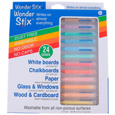 The Pencil Grip, Wonder Stix Washable Set, Multi-Colored, Set of 24, Grades PreK-Adult