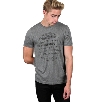 NOTW, Spirit Lead Me Where My Trust is Without Borders, Men's Short Sleeve T-Shirt, Gray, S-2XL