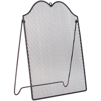 Wire Mesh Jewelry Organizer with Easel, Burnt Copper, 13 1/2 x 10 inches