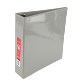 Bazic Products, Dual Pocket View Binder, Gray, 10 3/4 x 2 x 11 1/2 inches