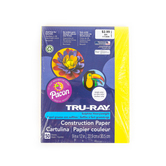 """Pacon, Tru-Ray Sulfite Construction Paper Paper Pack, Light Yellow, 50Ct, 9""""X12"""""""