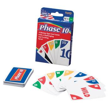 Mattel, Phase 10 Card Game, Ages 8 Years and Older, 2 to 6 Players