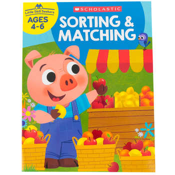 Scholastic, Little Skill Seekers:  Sorting & Matching Activity Book, 48 Pages, Grades PreK-1