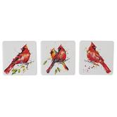 Demdaco, Cardinal Magnet, Stoneware, Assortment, 3 x 3 inches