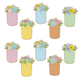 Teacher Created Resources, Rustic Bloom Mason Jars Large Accents Cutouts, 6 Inches, 30 Pieces