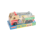 Melissa & Doug, Classic Wooden Firetruck Play Set, 4 Pieces, Ages 3 to 5 Years Old