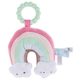 DOUGLAS, Rainbow Teether, Silicone & Polyester, 4 x 5 1/2 inches