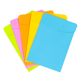 Book Pockets, Five Assorted Bright Colors, 3.50 x 5 Inches, Pack of 35