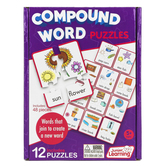 Junior Learning, Compound Word Puzzles, 12 Puzzles, 48 Pieces, Ages 5 Years and Older