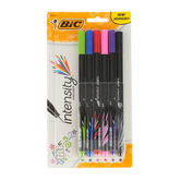 Bic, Intensity Marker Pens, Fine Point, Assorted Colors, Pack of 6