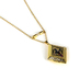 By His Grace, Diamond Shaped Locket Necklace with Cross, Brass and Iron, Gold, 18 Inch Chain