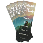 Salt & Light, Luke 1:37 Believe In Miracles Bookmarks, 2 x 6 inches, 25 Bookmarks