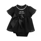 Stephan Baby, Little Black Dress, Black with White Trim, 3-6 months