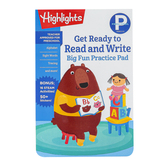 Highlights, Preschool Big Fun Practice Pad Get Ready to Read and Write, Paperback, 192 Pages, Grade PreK