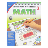 Carson-Dellosa, Interactive Notebooks Math Resource Book, Reproducible Paperback, 96 Pages, Grade 3