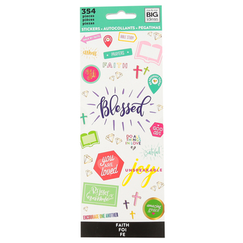 MAMBI, Happy Planner®, Blessed and Faith Sticker Pad, 354 stickers